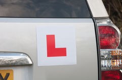 Learning Plates on a car Royalty Free Stock Photos