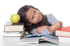 Learning pressure at school Royalty Free Stock Image