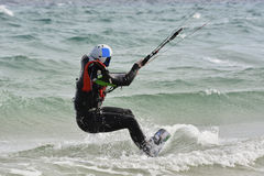 learning process how to kiteboarding Stock Image