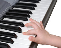Learning process (piano) Stock Photography