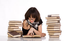 Learning and reading concept Royalty Free Stock Photo