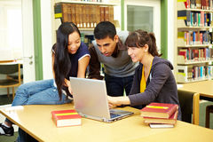 Learning in reading room Stock Image