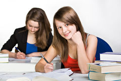 Learning schoolgirl Stock Photos