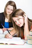 Learning schoolgirl Royalty Free Stock Photos