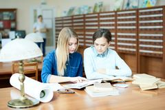 Learning scientific literature royalty free stock photos