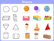 Learning the shapes with object for kids Stock Photo