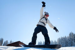 Learning snowboard Royalty Free Stock Photography