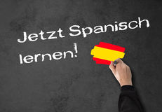 Learning Spanish now! Royalty Free Stock Image