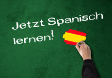 Learning Spanish now! Royalty Free Stock Images