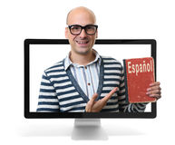 Learning spanish online concept Stock Photos