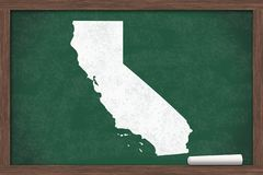 Learning about the state of California USA stock image