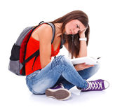 Learning student girl Royalty Free Stock Images