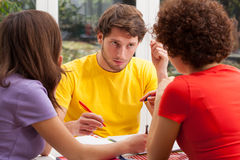 Learning students Royalty Free Stock Images
