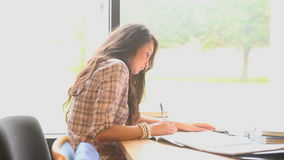 Learning Students sitting at a desk stock footage