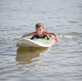 Learning surf Stock Photography