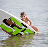 Learning surf Stock Photos