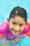 Learning swimming Stock Photography