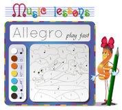 Learning tempo muzyke- Allegro Royalty Free Stock Photography