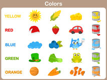 Learning The Object Colors For Kids Royalty Free Stock Photos