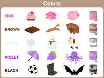 Free Learning The Object Colors For Kids Stock Photography - 42909482