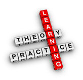 Learning - theory and practice. Crossword puzzle Royalty Free Stock Images