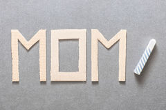 Learning to be a mom Stock Photo