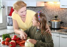 Learning To Cook Royalty Free Stock Photo