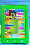 Learning to count with abacus Stock Images