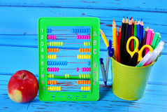 Learning to count with abacus Royalty Free Stock Images