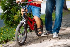 Learning to cycle Stock Photography