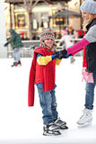 Learning to Ice Skate Stock Images