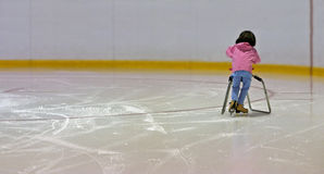 Learning to Ice Skate Stock Photography