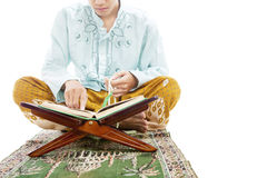 Learning to read quran royalty free stock images
