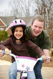 Learning To Ride A Bike Royalty Free Stock Photos