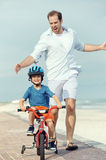 Learning to ride a bike Royalty Free Stock Photography