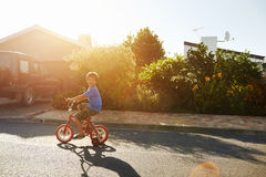 Learning to ride royalty free stock photo