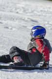 Learning to ski royalty free stock photography