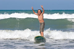Learning To Surf 04 Royalty Free Stock Photography