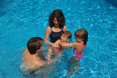 Learning to swim Royalty Free Stock Photography