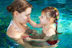 Learning to swim Stock Images