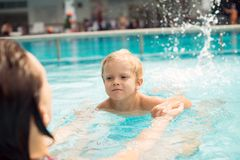 Learning to swim Royalty Free Stock Images