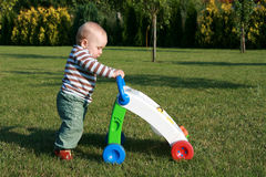 Learning to walk - first steps Royalty Free Stock Photography