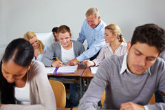 Learning together at university Stock Photography