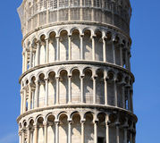 The learning tower - La torre pendente di Pisa. Travel. Mediterranean Europe. The Italian city Pisa. The learning tower - La torre pendente di Pisa Stock Photo