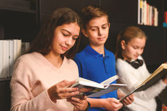 Learning with traditional books Stock Image