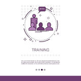 Learning Training Courses Education Web Banner With Copy Space. Vector Illustration Royalty Free Stock Image