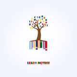 Learning Tree Logo Template. Education, Letters, Books. Royalty Free Stock Image