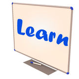 Learning whiteboard Royalty Free Stock Images