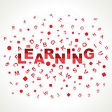 Learning word with in alphabets Royalty Free Stock Photography