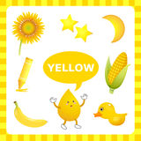 Learning Yellow color Stock Image